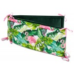 Obroba za posteljico Jukki Exotic Flamingo
