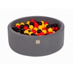 MeowBaby igralni bazen s kroglicami Dark Grey: Yellow/Red/Black