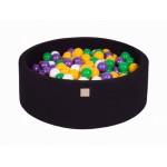 MeowBaby igralni bazen s kroglicami Black: Yellow/Violet/White/Dark Green