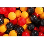 MeowBaby igralni bazen s kroglicami Dark Grey: Yellow/Red/Black
