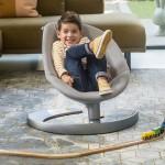 Otroški ležalnik Nuna Leaf Grow z igralnim lokom Quartz